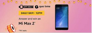 amazon mi max 2 quiz answers