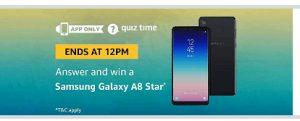 Samsung Galaxy A8 Star Quiz 9th September