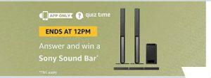 amazon sony sound bar quiz answers