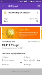 phonepe gold buy and sell