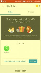 Refer and earn wynk music