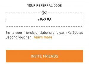 Jabong referral code