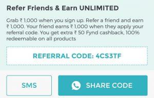 fynd referral code