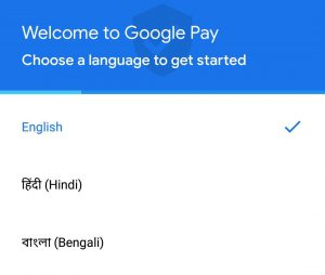 select language in Google pay