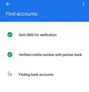 sms verification in google pay app