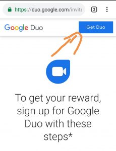Click on get duo