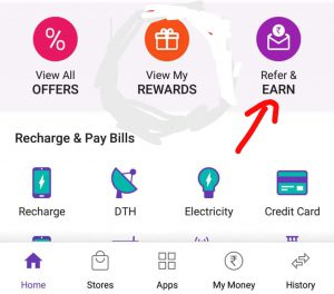 Phonepe refer and earn