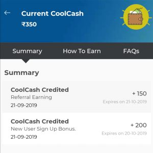 Coolcash on applying coolwinks referral code