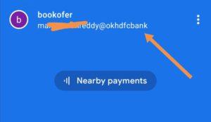 Google pay UPI id