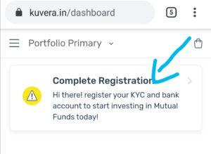 Click on complete registration