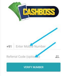 Apply cashboss referral code