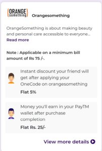Onecode Referral code (one@141814). Get 50 Rs 1