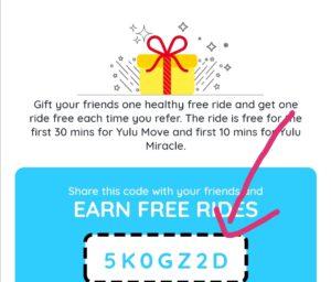 Yulu cycle Referral code