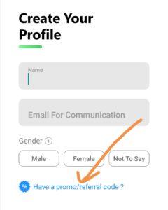 Enter quick ride promo code / referral code