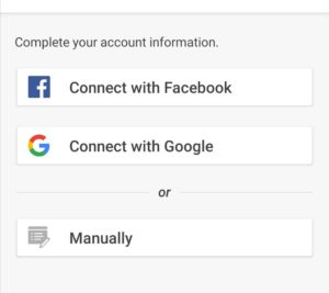 complete your account information