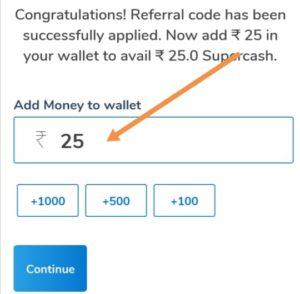Add money to Mobikwik wallet