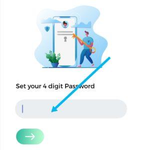 Set a 4 digit pin