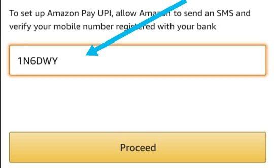 Enter amazon pay upi referral code
