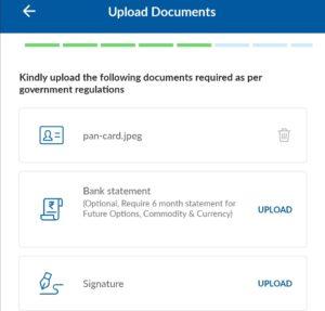 Upload signature here