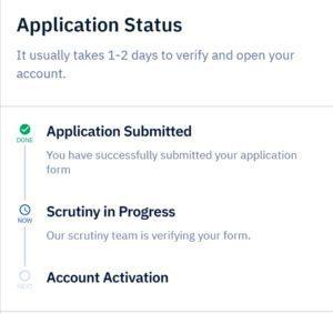 upstox Application status