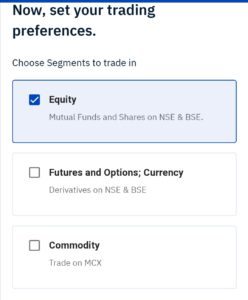 Now set your trading preferences