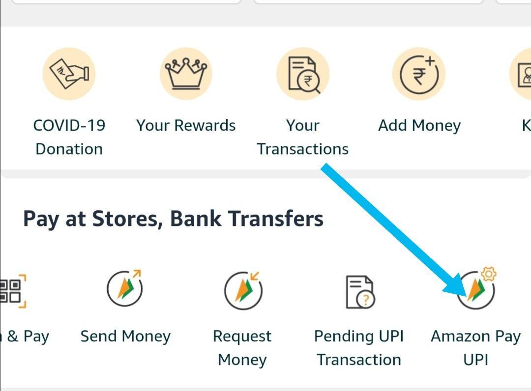 Click on amazon pay upi option