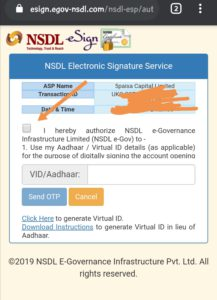 enter your aadhaar card number. Verify it with OTP.