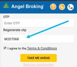 enter angelbroking introducer code - M207068.