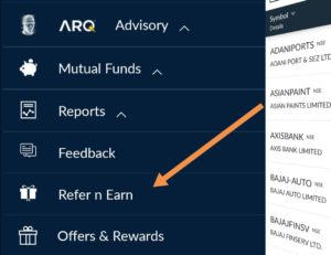To refer your friends to Angel broking. Open app. Login to your account > menu > Refer and earn.