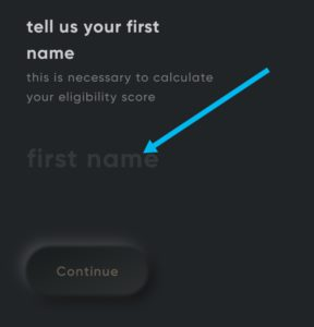Enter your first name and last name