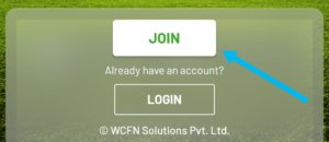 New user click on Join now