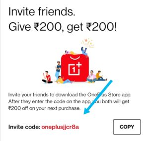 Oneplus invitation code or invite code