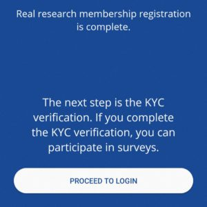 Real research membership registration completed