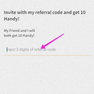 Enter-referral-code-in-handypick 3