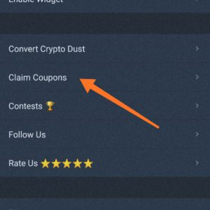 How to apply are claim coupons in wazirx