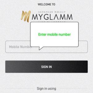 Enter mobile number