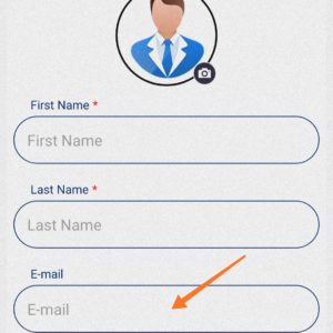 Enter your First Name, last name and your email