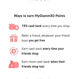 Refer and earn benefits with myglamm