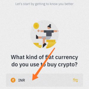 select the currency you want to buy Crypto