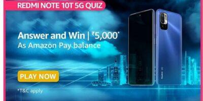 Amazon Redmi Note 10T 5G quiz answers