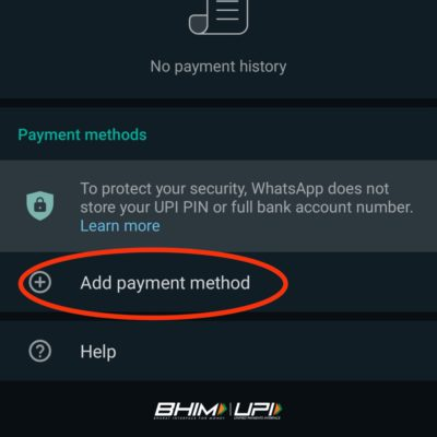 Click on Add payment method