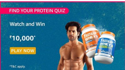 Amazon Find your Protein Quiz Answers