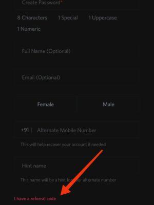 Apply Myntra referral code